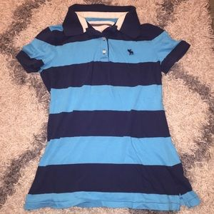 Abercrombie & Fitch Striped Polo M